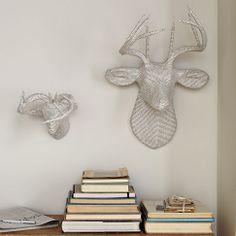 Papier-Mâché Animal Sculptures - Newsprint Deer   west elm
