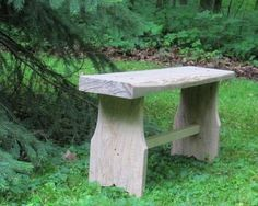 The one board bench. Build a simple yet stunning bench using one board, a scrap 2x2, and a couple of screws. Free plans at Ana-White.com