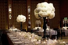 Inspiration for a black & white wedding theme.