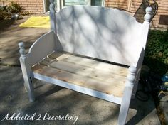 Bench Made From A Headboard And Footboard