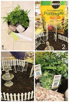 fairi garden, pet inspir, mini gardens
