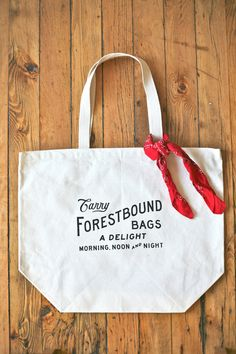 Forestbound Printed Cotton Tote Bag