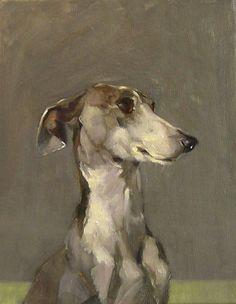 art galleri, painting animals oils, inspir, greyhound art, sandra flood, dog art, anim portrait, whippet, lilli