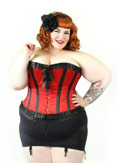 Domino Dollhouse: Plus Size Clothing - Sweetheart Over Bust Corset