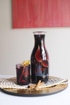 Autumn bourbon sangria