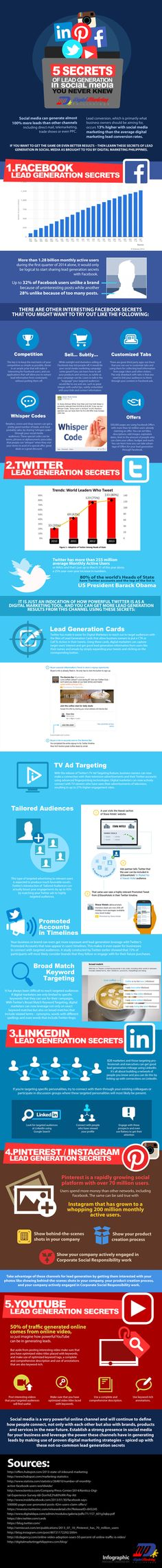 Infographic: The 5 secrets to generating leads through social media - The Hub