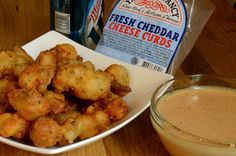Beer Battered Cheese Curds with Bloomin' Onion Sauce - Savory Experiments