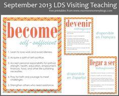 September 2013 LDS Visiting Teaching Message