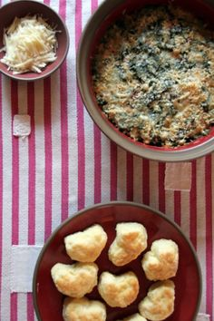 from The Southern Foodways Alliance Cookbook:  Collard Green and White Bean Gratin by Frank Stitt, with Natalie Chanin's Buttermilk Biscuits!