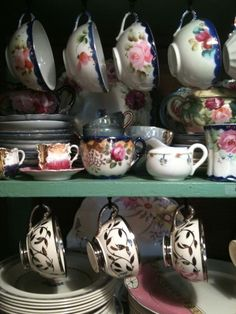quite the collection! #tea #teacups