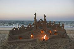 intricate sandcastle