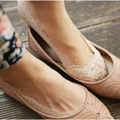 Lace socks for ballet flats