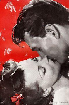 Retro kiss #kissing #art