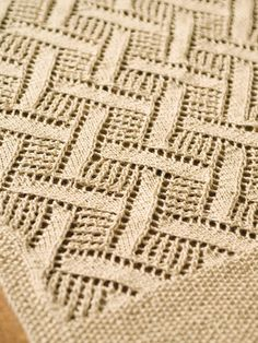 Free Pattern: Montague. Could be table runner or shawl