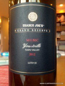 A yummy full bodied Malbec from Napa Valley #traderjoes