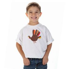 Handprint art just got even cooler! Try the Give a Turkey a Hand T-Shirt this year for Thanksgiving!