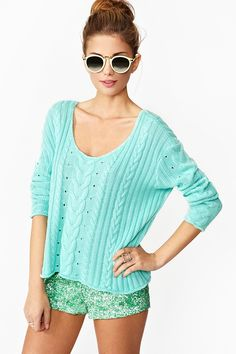 Hard Candy Knit - Mint in Clothes Tops at Nasty Gal