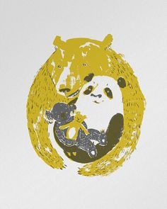 """Triple Bear Hug""  letterpress poster"