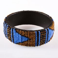 Swaziland Beaded Bangle now featured on Fab.