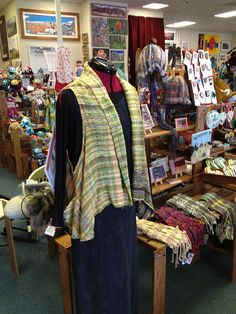 saori weaving vest, at Scotts Valley Artisans (calif)
