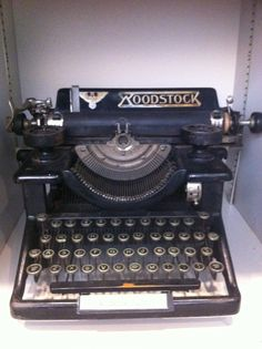 From the American Press Institute typewriter collection, a Woodstock from the 1920s. I thought Woodstock was in 1969.