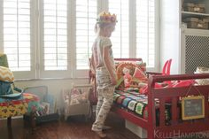 """Kelle Hampton.  Sign for Stella's room """"she believed she could and she did.""""  love the crown too."""
