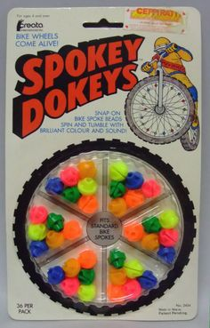 Though on the noisy side, Spokey Dokeys were totally fun! (I loved the pink ones.) #toys #bike #bicycle #retro #nostalgia #childhood #1990s #1980s