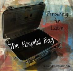 Preparing a Hospital Bag for Labor