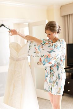 Getting ready in a @Plum Pretty Sugar Loungerie robe ;) Photography by benqphotography.com