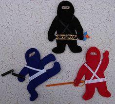 felt finger puppet ninjas