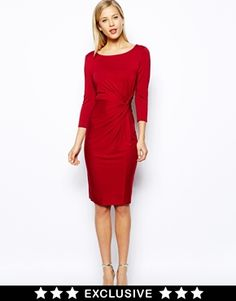 Image 1 ofOasis Plain Twist Dress