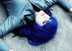 vibrant black & blue