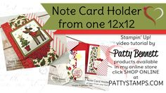Easy Note Card Holde