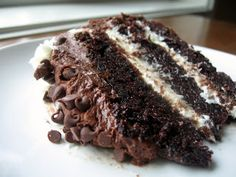 Most Amazing Cake Made in the South Ever!! Chocolate Layers with Cream Cheese Filling  Chocolate Cream Cheese !! Heavenly !!