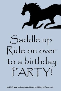 Factors to Consider When Planning a Horse Theme Birthday Party #party #birthday #decoration #cakes #favors #themedbirthday #games #printable #quotes #invitation #sayings #birthdaypartyideas #bpartyideas #horse