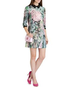 Glitch floral print tunic - Peach | New Arrivals | Ted Baker