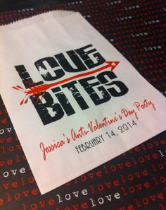 Anti-Valentine's Day Party Favor Bags: 20 Love Bites Personalized Party Bags