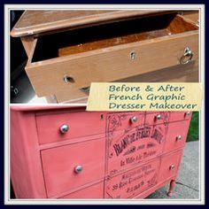 You won't believe the difference a day makes on this dresser! It was acting like a Diva so it now looks like a DIVA! come check out the makeover Before and After. http://arttisbeauty.blogspot.com/2014/08/fabulous-french-graphic-and-colorful.html #artisbeauty +The Graphics Fairy LLC #hometalktuesday #hometalkeverday #homedecor #paintedfurniture #furnituremakeover #frenchfurniture #stencilart