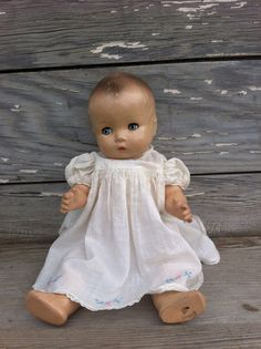 antique doll / doll dress / vintage baby doll / by OneLuckyWeed