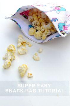Super Easy Reusable Snack Bag Tutorial