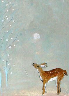 Winter Deer by Enrouge.