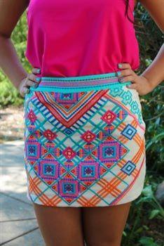 Alexandria Mini Skirt Cream $42.99 #SouthernFriedChics