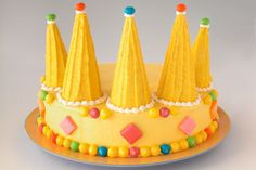 crown cake - could work in pink for a princess party