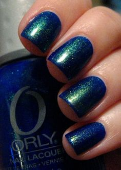 Orly Royal Navy with top coat (try CND Effects or Pure Ice Heartbreaker)