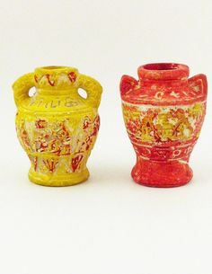 Occupied Japan Pottery Urns  Miniature Urns Japan by Comforte, $10.00