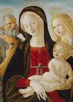 Madonna and Child with Saints Jerome and Mary Magdalene, ca. 1490  Neroccio de' Landi (Neroccio di Bartolommeo di Benedetto di Neroccio de' Landi) (Italian, Sienese, 1447–1500)  Tempera on wood