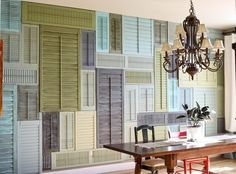 An entire wall of shutters