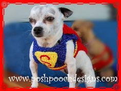 Super Dog Pet Costume   Small Dog Costume by poshpoochdesigns, $25.99