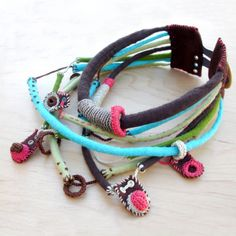 textile choker - www.kjoo.etsy.com