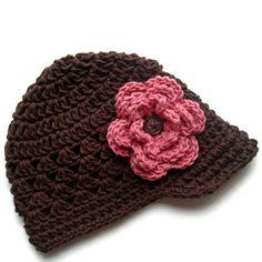Crochet Baby Hat Crochet Girls Hat Crochet Visor by Karenisa, $24.00